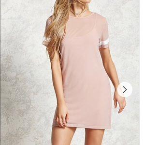 Forever 21 Sheer Mesh T-Shirt Dress
